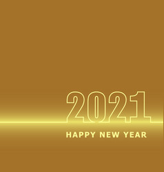 2021 happy new year with classic golden background vector