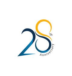 28th anniversary template design vector