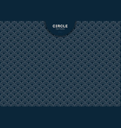 abstract geometric circle blue background vector image