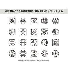 Abstract geometric shape monoline 54 vector