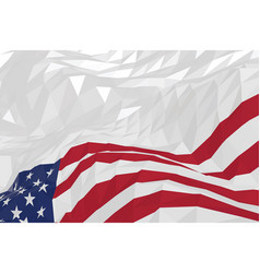 american flag in a triangular style vector image