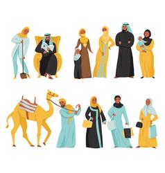 Arabs icon set vector