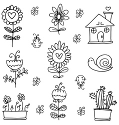Art of spring hand draw doodles vector