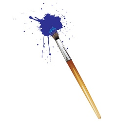 Artist Brushes with Paint vector