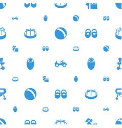 Baby icons pattern seamless white background vector