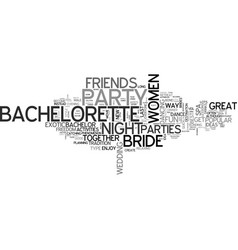 Bachelorette party ideas text word cloud concept vector