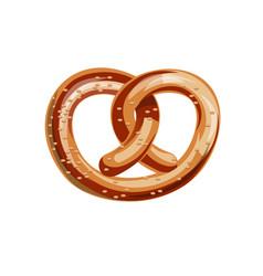 bavarian pretzel vector image