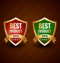best 2015 product of the year golden label design vector image
