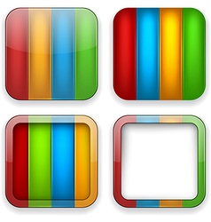Blank color app icons vector