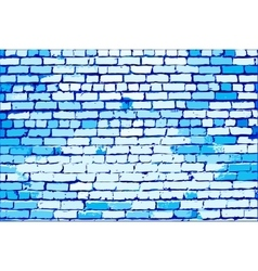 Blue brick wall vector image