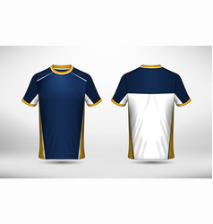 Blue white and yellow layout e-sport t-shirt vector