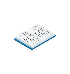 Book written in Braille icon isometric 3d style vector image