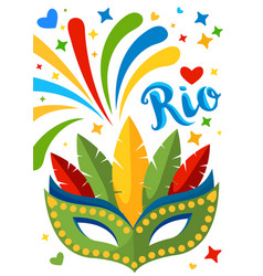 brazil carnival background for placard poster vector image