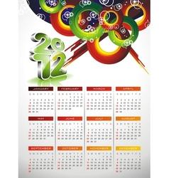 calendar design 2012 with abstract circle design vector image
