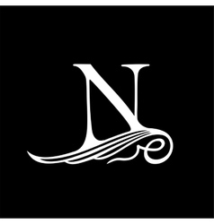 Capital Letter N for Monograms Emblems and Logos vector