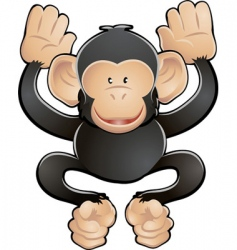 chimpanzee illustration vector image