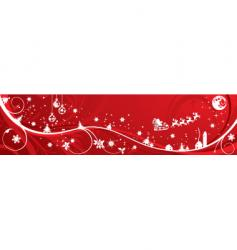 Christmas background banner vector image