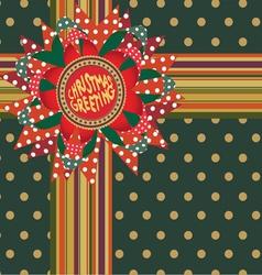 Christmas greeting gift decor vector image
