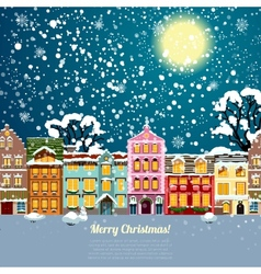 Christmas house background vector