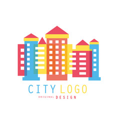 city logo original design modern design of real vector image
