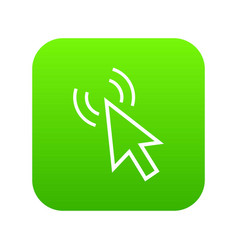 click icon digital green vector image