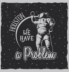 Creative cosmic poster vector