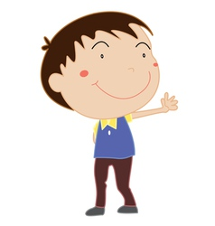 Cute young boy vector image