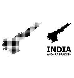 Dotted mosaic map andhra pradesh state vector