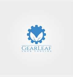 eco logo template gear logo technology design for vector image