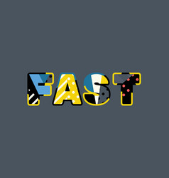Fast concept word art vector