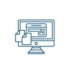 file transfering line icon concept file vector image
