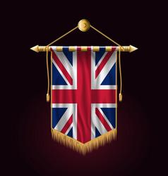 flag of united kingdom festive vertical banner vector image