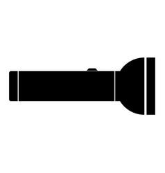 flashlight the black color icon vector image