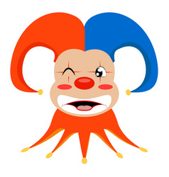 Funny cute clown vector