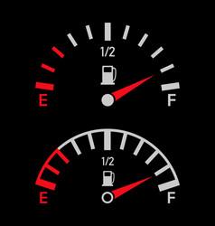 gauge fuel gas petrol full or empty vector image