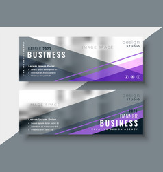 geometric abstract business banners design vector image