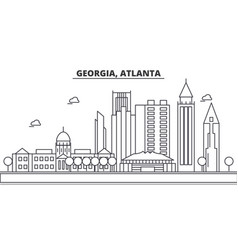 Georgia atlanta architecture line skyline vector