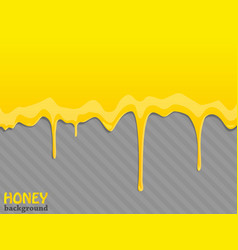 Glossy yellow background with sweet honey drips vector image
