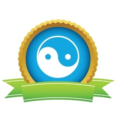 Gold Taoism logo vector image