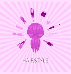 Hairstyle salon beauty studio background hair vector