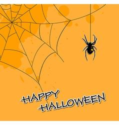 Halloween background with spider vector