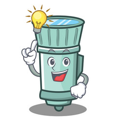 have an idea flashlight cartoon character style vector image