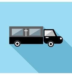 Hearse icon flat style vector