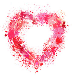 Heart shaped frame made of spray vector