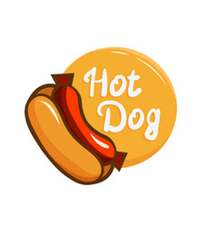 Hotdog logo icon vector