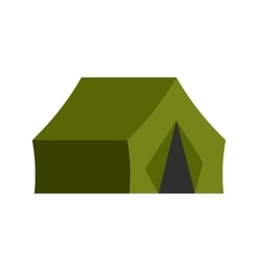Hunting tent icon vector image