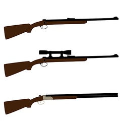 Huntingsniper rifle and shotgun vector image
