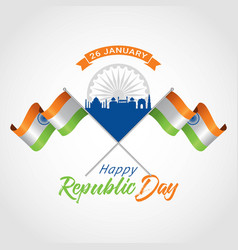 Indian republic day 26 january vector