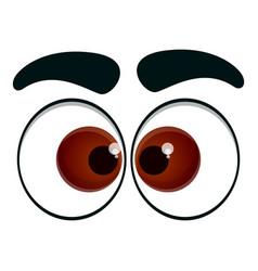 Innocent eyes icon cartoon style vector