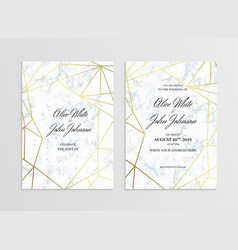 Invitation card template of geometric design vector